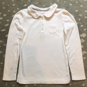 Gymboree 7 white king sleeve button polo pocket